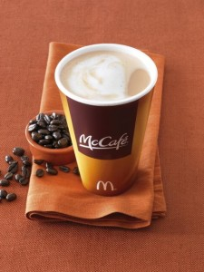 McCafe Latte and beans
