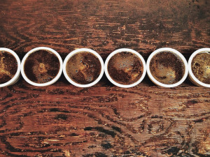 coffee cupping wood