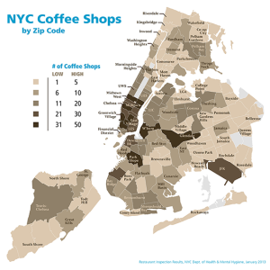 New york city coffee shops by zip code