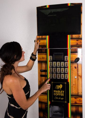 Marley coffee vending kiosk
