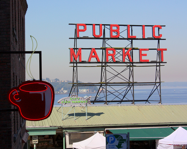 pike place public market coffee sign