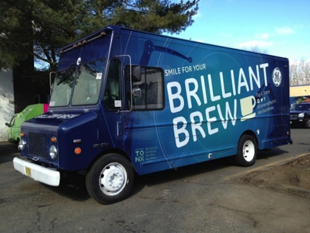 GE Brilliant Brew truck serving facial lattes at SXSW