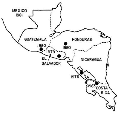 diagram of coffee leaf rust in central america