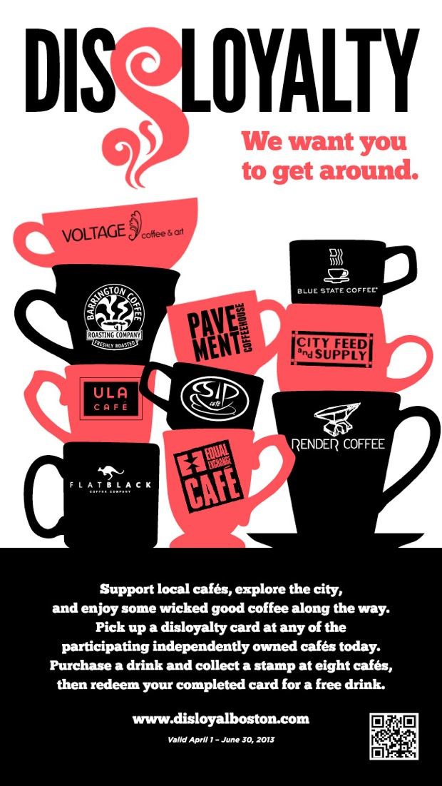 Boston Indie Coffee Shops Unite for Disloyalty Program