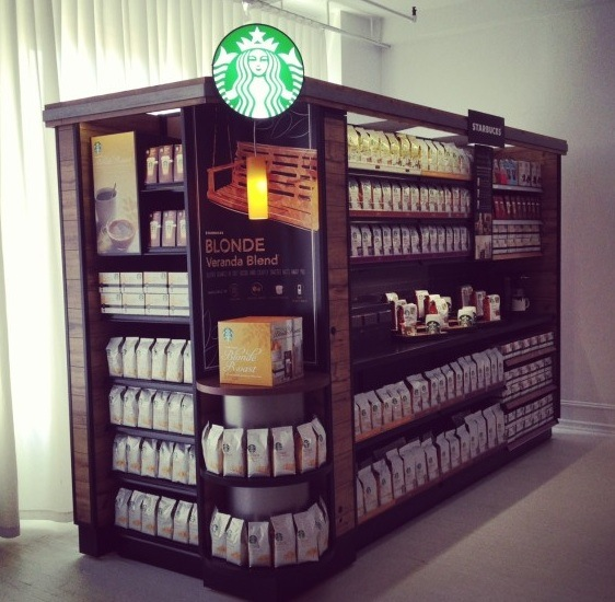first look at the starbucks grocery aisle kiosk