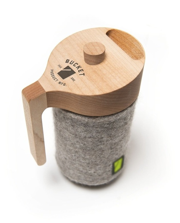 Bucket using crowd funding for French press