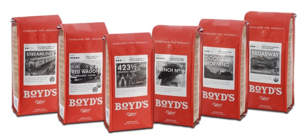 Boyd Coffee Company Launches new packaging