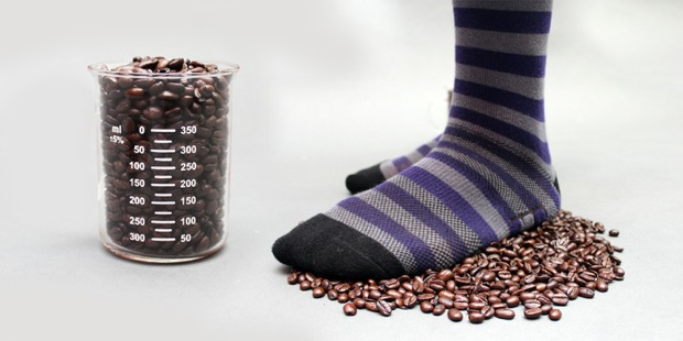 carbonized coffee socks funded by kickstarter
