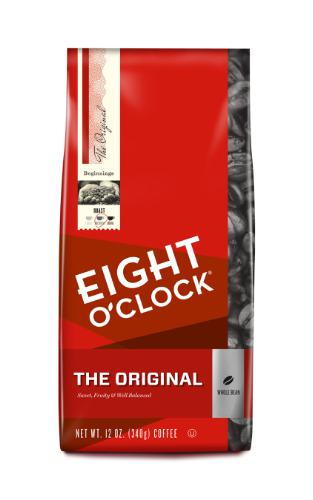new package brand design for eight o'clock coffee