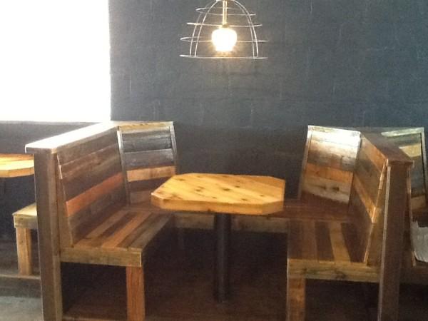 seating at davis street espresso bar