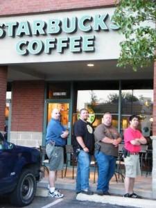 guns rights advocates at starbucks