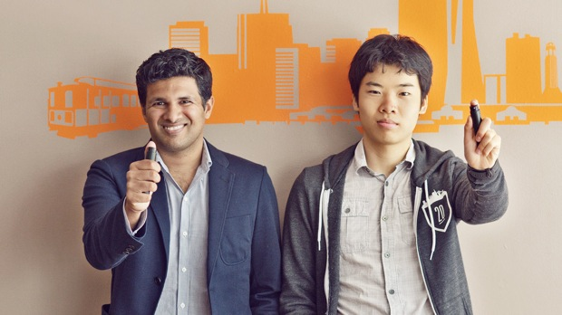 Deven Soni (left) and Ben Yu of Sprayable Energy
