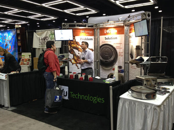 uVu Technologies booth (Stefan in the shot)