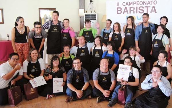 participants in the Galicia Down syndrome barista competition