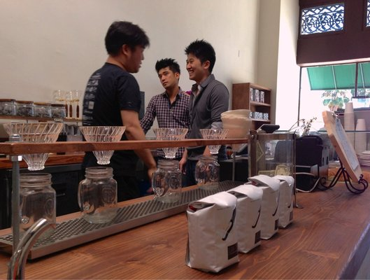 the owners of Andante coffee roasters