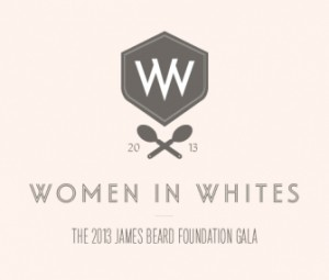 Women in Whites logo by the James Beard Foundation.