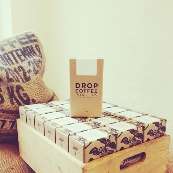 drop coffee packaging