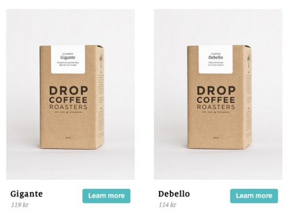 Swedish Roastery Drop Coffee Praised for Cardboard Box