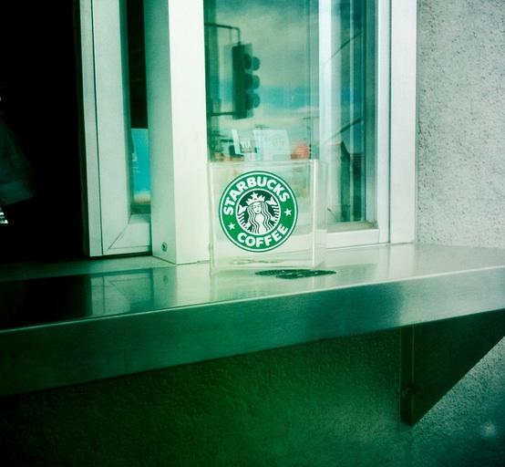 a tip jar at Starbucks