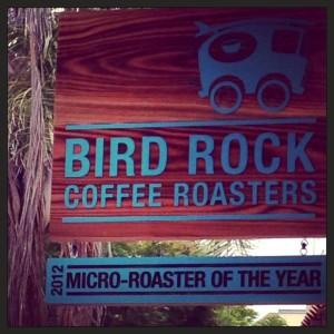 bird rock coffee roasters sign