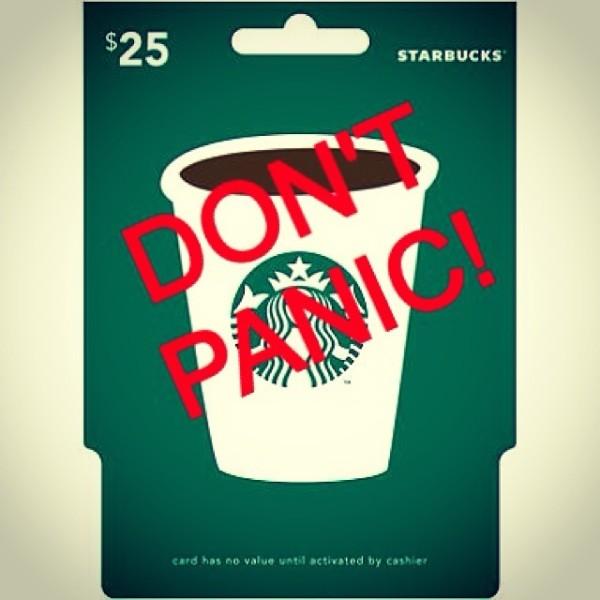 stupid good coffee redeeming Starbucks cards