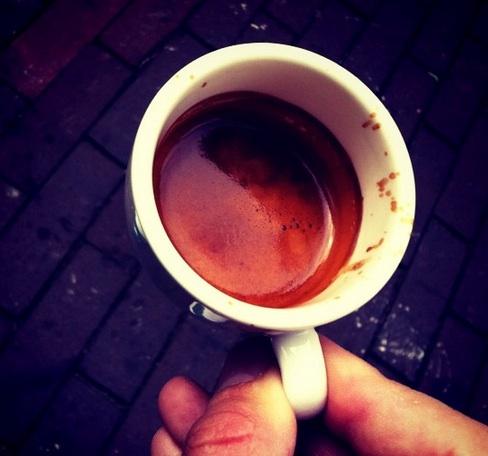 espresso shot in a mug