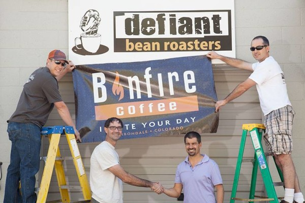 Jeff Hollanbaugh and Charlie Chacos Bonfire Coffee