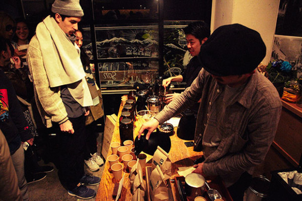 Paddler's coffee in Tokyo Stumptown