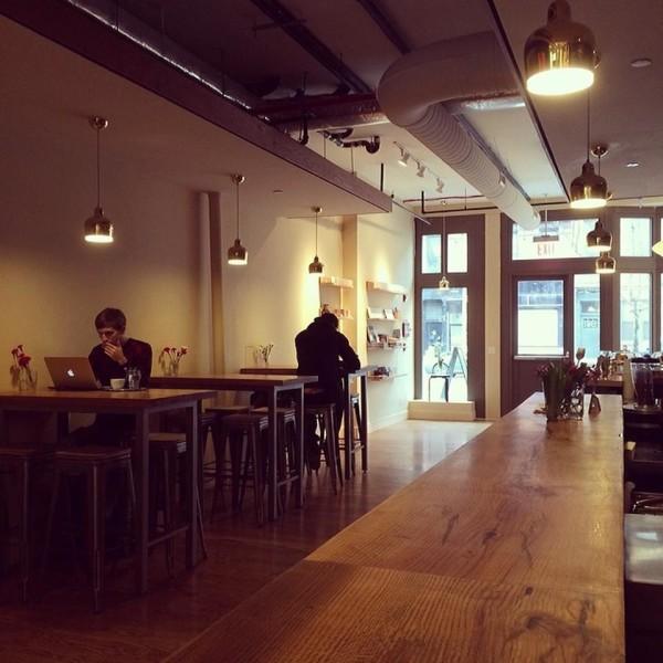 Inside Budin Coffee in Brooklyn