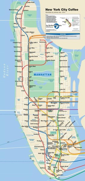 Ride. Stop. Sip. Repeat. The Manhattan Subway Station Coffee Map