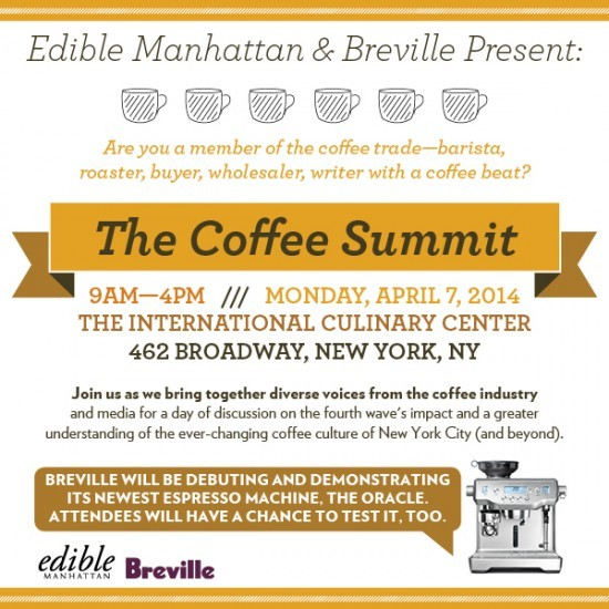 Edible Manhattan Coffee Summit