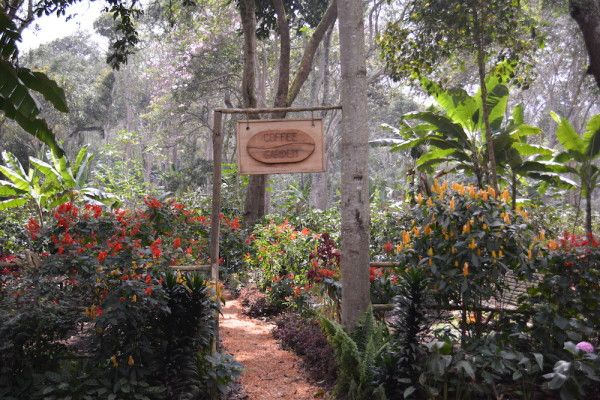 A shot of the entry way to the Coffee Garden