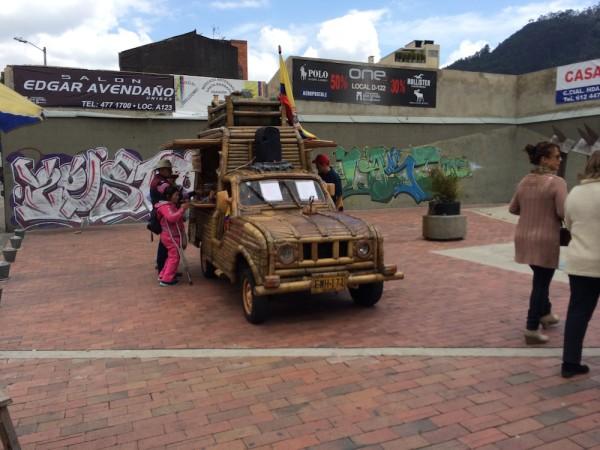 A unique coffee cart found in Bogota