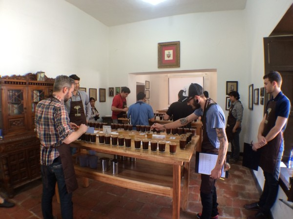 A shot of the Cupping Room at Hacienda El Roble