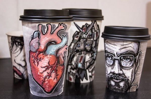 Miguel Cardona's Must-See Coffee Cup Art | Daily Coffee News by ...