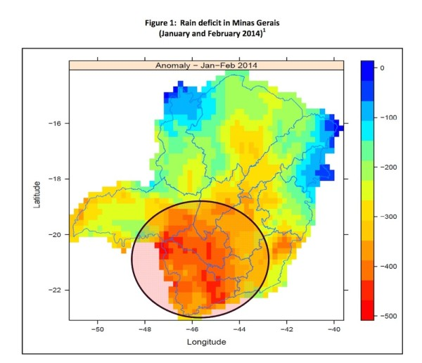The January and February rain deficit on Minas Gerais. Images courtesy of ICO.
