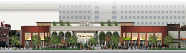 Rendering of the Monte Carlo plaza.