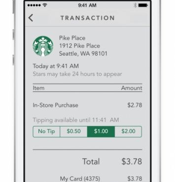At Consumers' Requests, Starbucks Finally Adds Tipping System to iPhone App