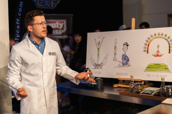 Maxwell Colonna-Dashwood dons a lab coat.