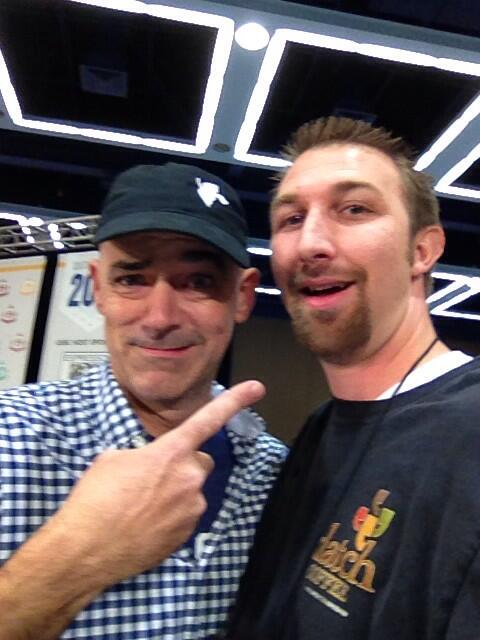 Selfie by Todd Goldsworthy (right) with Todd Carmichael.