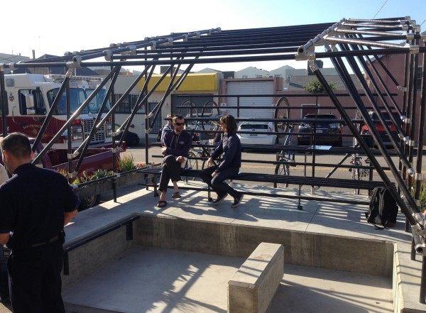 The Trouble Coffee parklet in San Francisco. Photo courtesy of the San Francisco Planning Department.