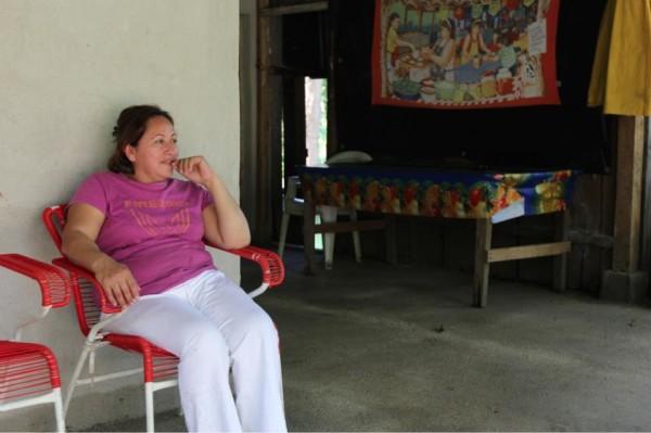 Alexa Marín Colindres at her farm in Nicaragua.
