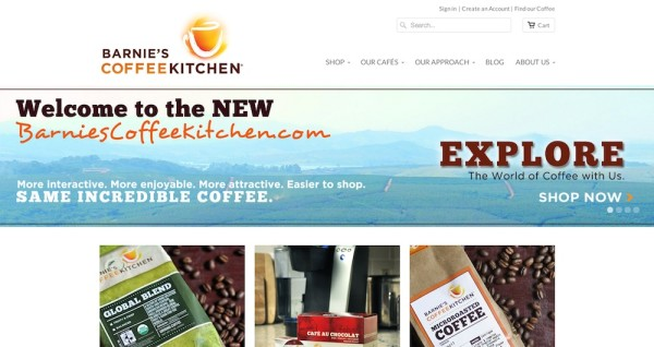 barnie's coffee kitchen new website