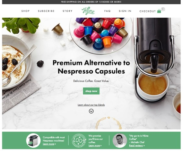 HiLine Coffee Company to Offer Capsules Through Traditional Retailers, Introduces New Website