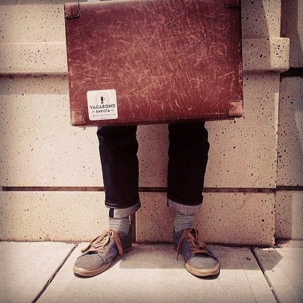 The infamous Vagabond Barista suitcase.