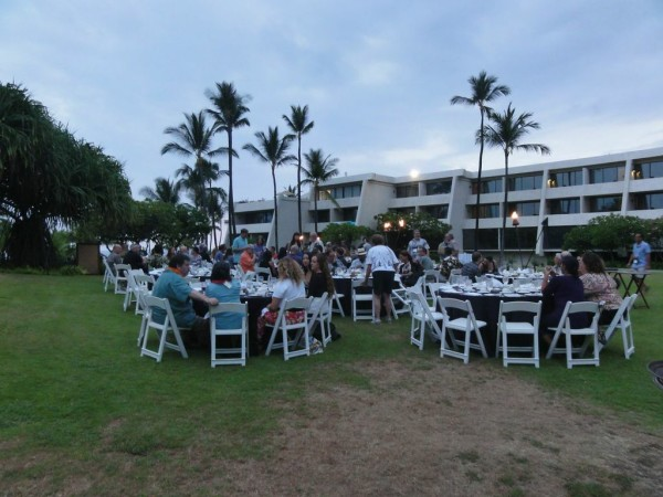 The HCA hosted a festive dinner and auction on the Sheraton Kona Resort & Spa luau grounds.
