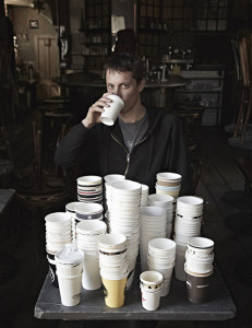 Henry Hargreaves, curator of Coffee Cups of the World