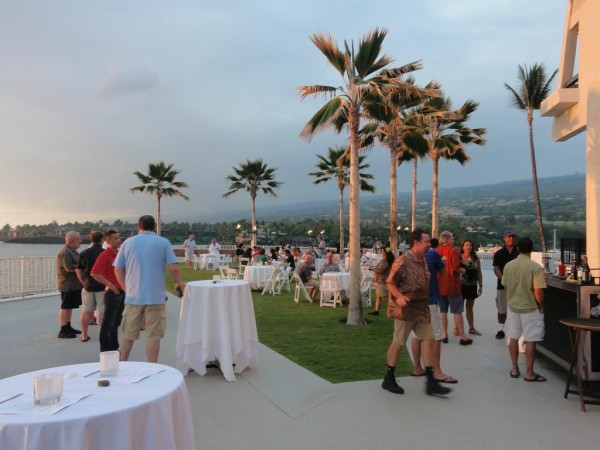 The opening reception of the Hawaii Coffee Association's 19th annual conference and trade show overlooked beautiful Keauhou Bay on the big island of Hawaii.