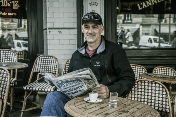 Coffee Celebrity Sightings: La Colombe's Todd Carmichael on Location in Paris