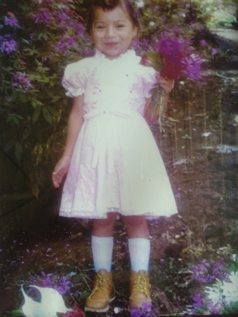 Ivania Schurer (nee Rivas) on the Malacara estate when she was five years old. (Photo courtesy of Ivania Schurer.)